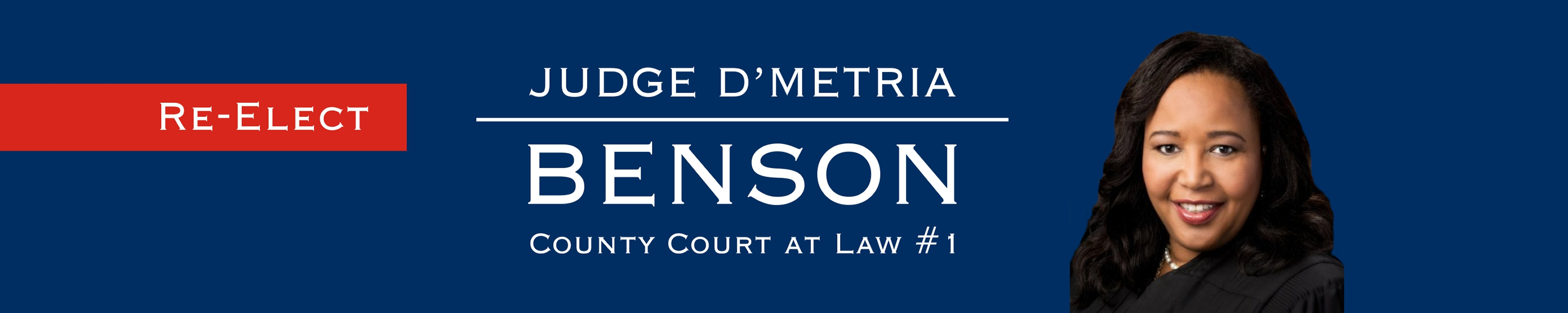 ReElect Judge D'Metria Benson